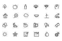 Nature and Ecology Colored Icons 1 Stock Photo