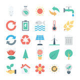 Nature and Ecology Colored Vector Icons 1 Stock Photography