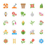 Nature and Ecology Flat Colored Icons 3 Stock Images