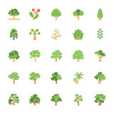 Nature and Ecology Flat Colored Icons 5 Stock Photography