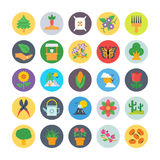 Nature and Ecology Flat Icons 1. Need a set of awesome nature s. Just check out this Nature and Ecology Flat Vector Icons pack. Beautiful nature artwork to add Royalty Free Stock Photography