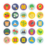 Nature and Ecology Flat Icons 2 Stock Photography