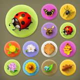Nature and Ecology icons Royalty Free Stock Photos