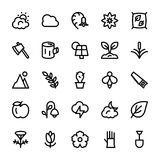 Nature and Ecology Line Icons 2 Stock Photo
