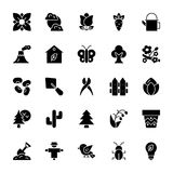 Nature and Ecology Solid Icons 1 vector illustration