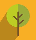 Nature ecology tree icon design Royalty Free Stock Photo