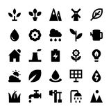 Nature and Ecology Vector Icons 1 Royalty Free Stock Images