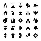 Nature and Ecology Vector Icons 4 Royalty Free Stock Image