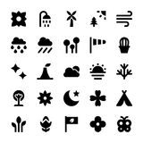 Nature and Ecology Vector Icons 6 Royalty Free Stock Image