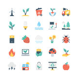 Nature and Ecology Vector Icons 4 Stock Photography