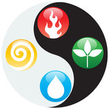 Nature Element Icons Stock Photography