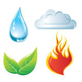 Nature elements. Symbols - vector illustration Stock Images