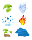 Nature elements icons Royalty Free Stock Photography