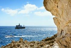 Nature encadrant une vue de Capri images stock