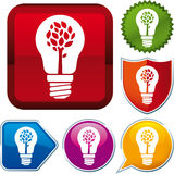 Nature energy icon. Vector nature energy icon on different buttons Stock Image