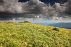 Nature and environment. Fields and hills. Mountain landscape in the summer. Stock Photography