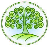 Nature and environment icon with tree Stock Photos