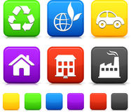 Nature Environment icons Stock Image