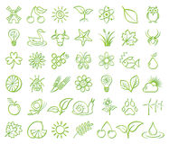 Nature and Environment Icons Royalty Free Stock Photo