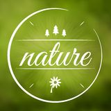 Nature environment symbol in circle Royalty Free Stock Photography