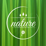 Nature environment symbol with grass in circle square Stock Photography