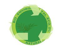 Nature environmental label Royalty Free Stock Photo