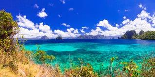 Nature et beauté étonnantes des îles de Philippines - Palawan image stock