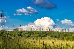 Nature et civilisation image stock