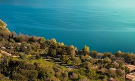 Nature et eau, Albano Lake, Italie images libres de droits