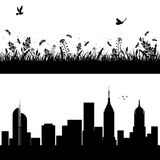 Nature et milieux urbains Image libre de droits