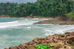 Nature et plage d'Itacare au Bahia photographie stock libre de droits