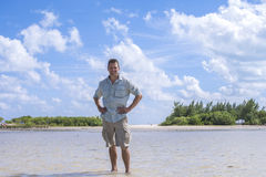Nature explorer in Yucatan stock photography