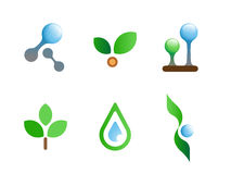 Nature flat vector symbols for branding Stock Image