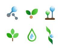 Nature flat vector symbols for branding Stock Image