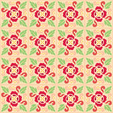 Nature Flower Pattern. Seamless pattern of decorative flowers great for vintage background Stock Photography