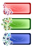 Nature flowers poster card Stock Image