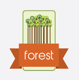 Nature forest design Royalty Free Stock Image