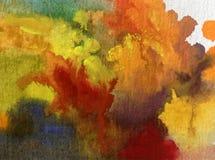 Nature fraîche de pin d'arbres forestiers d'automne de fond d'abrégé sur art d'aquarelle la belle a donné à l'imagination une con Photographie stock