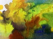 Nature fraîche de pin d'arbres forestiers d'automne de fond d'abrégé sur art d'aquarelle la belle a donné à l'imagination une con Image stock
