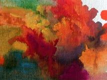 Nature fraîche de pin d'arbres forestiers d'automne de fond d'abrégé sur art d'aquarelle la belle a donné à l'imagination une con Images stock
