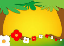 Nature frame vector illustration