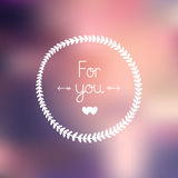 Nature frame and love letter Only you. With hearts on gradient background, EPS 10. Romantic greeting card Royalty Free Stock Photography