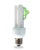 Nature friendly fluorescent lamp concept Royalty Free Stock Photography