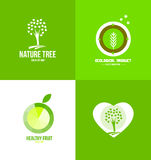 Nature fruit ecological logo Stock Photography
