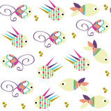 Nature  funny fish seamless pattern and seamless pattern in swat Stock Image