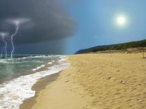 Nature fury. An incoming storm from the sea Stock Photography