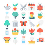 Nature and Gardening Vector Icons 1 Royalty Free Stock Photos