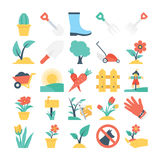 Nature and Gardening Vector Icons 3 Royalty Free Stock Images