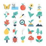 Nature and Gardening Vector Icons 5 Stock Photo