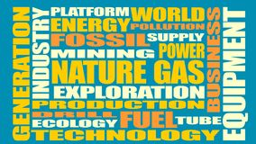 Nature gas industry relative words Stock Photography